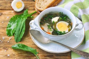 Breakfast Soup made with Bone Broth